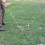 Starting the golf backswing with a low club takeaway