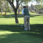 golfer practicing short game golf strategy