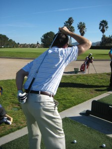 golfers spine angle at address