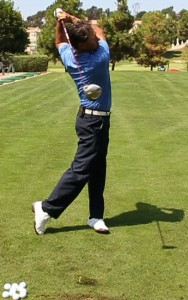 Bill McKinney Showing Proper Golf Swing Finish Position