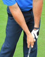 Bill McKinney Demonstrating proper wrist conditions for the golf downswing