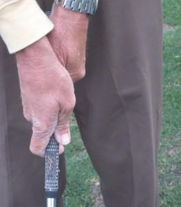weak golf grip